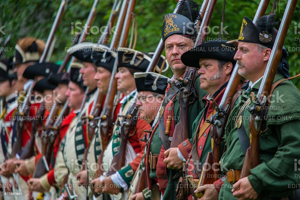 American Revolutionary War Soldiers stock photo