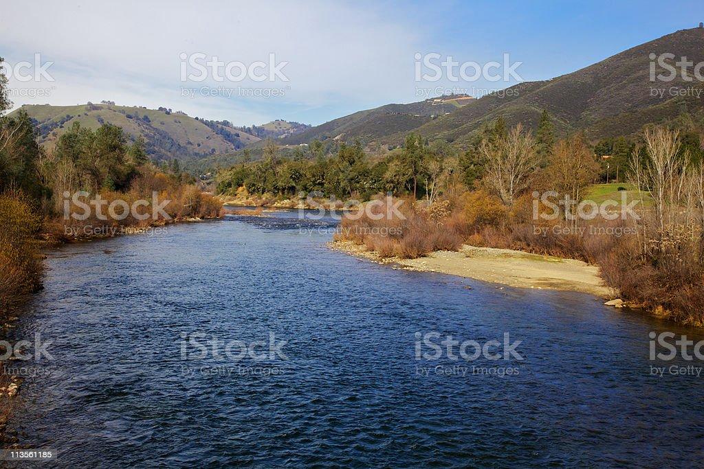 American River Coloma stock photo