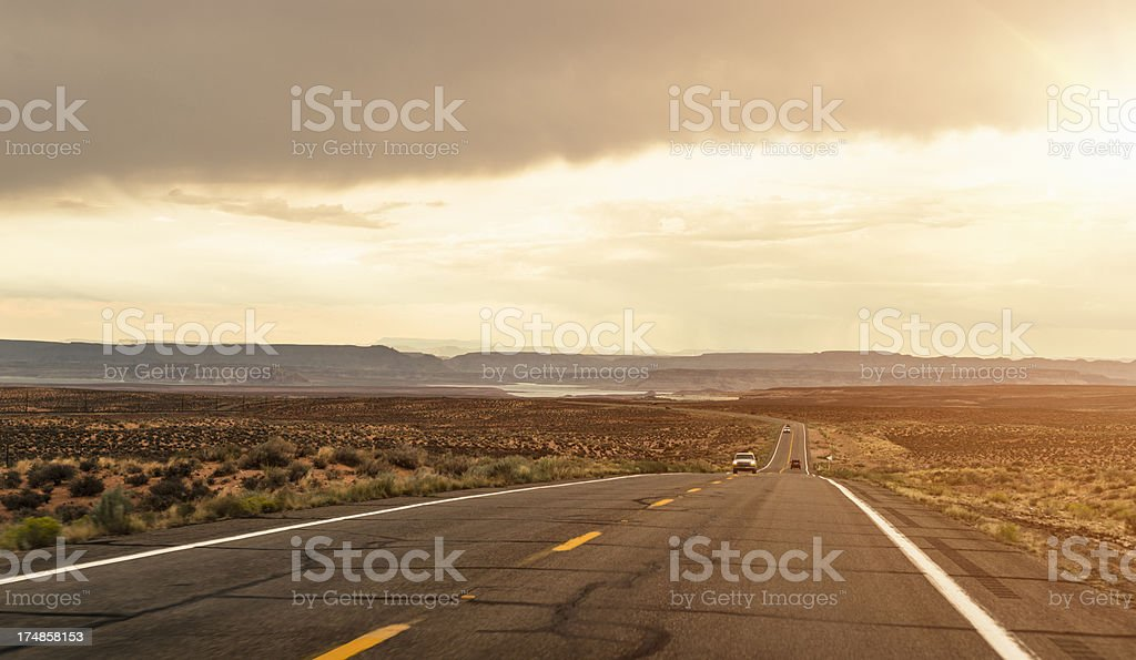 American road on route 66 - USA stock photo