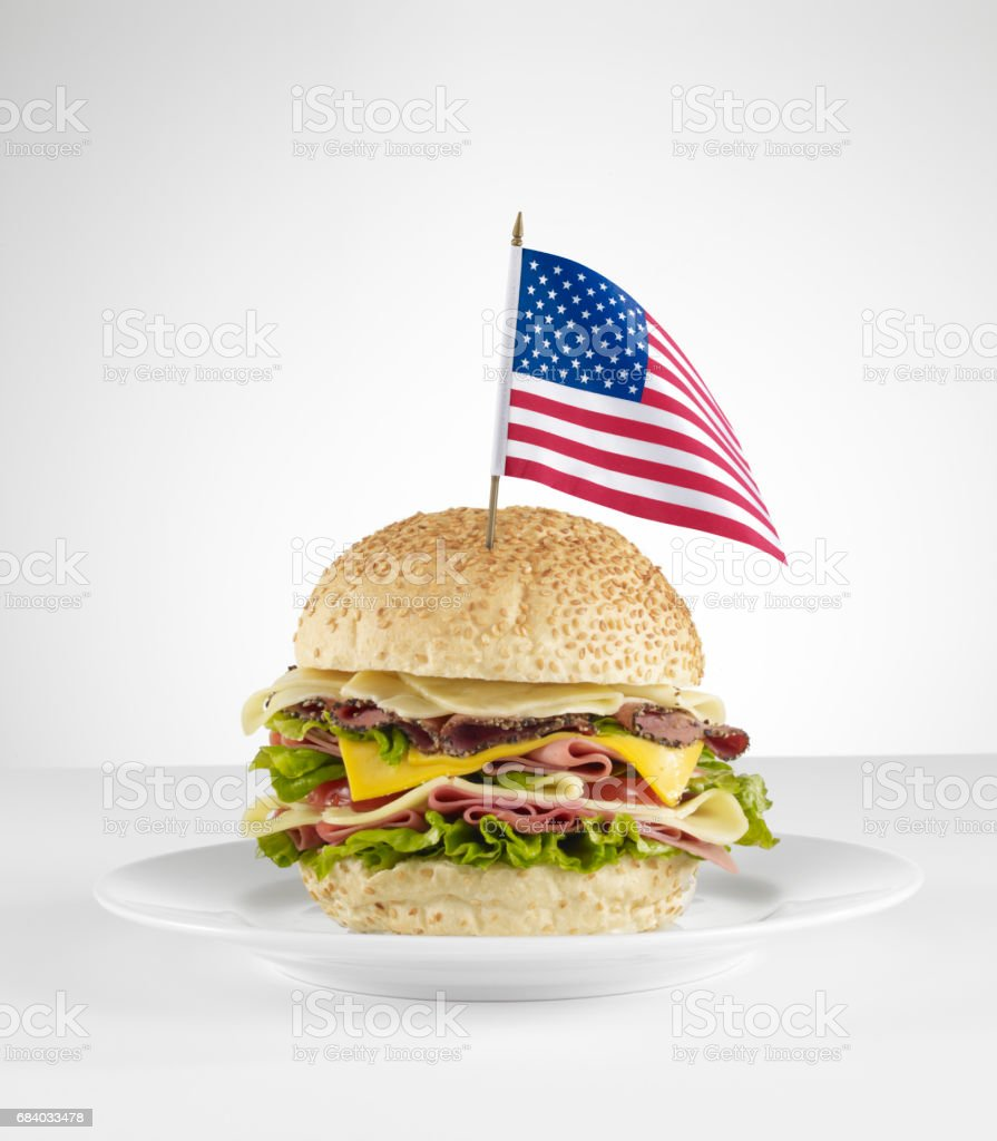 American sandwich stock photo