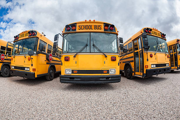 american school buses - school buses stock pictures, royalty-free photos & images
