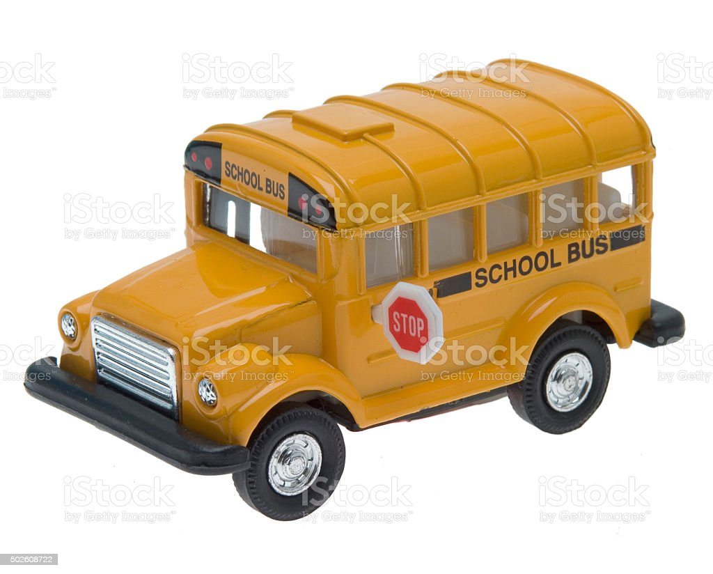 American amerikanischer Schulbus- toy – Foto