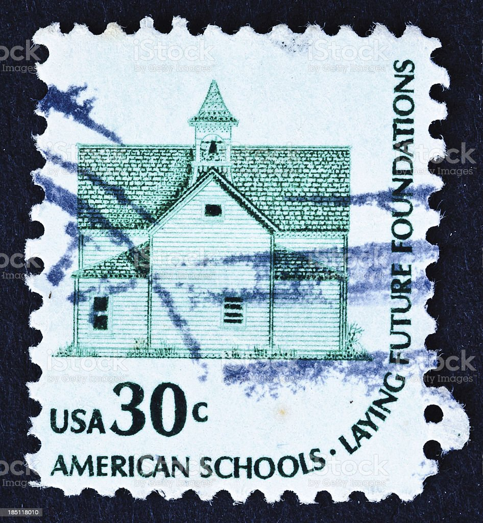 American Schools Stamp royalty-free stock photo