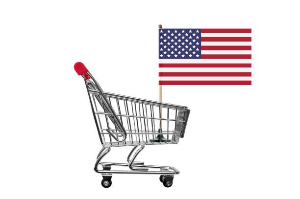 American Shopping stock photo