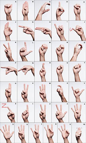 American Sign Language Alphabet stock photo