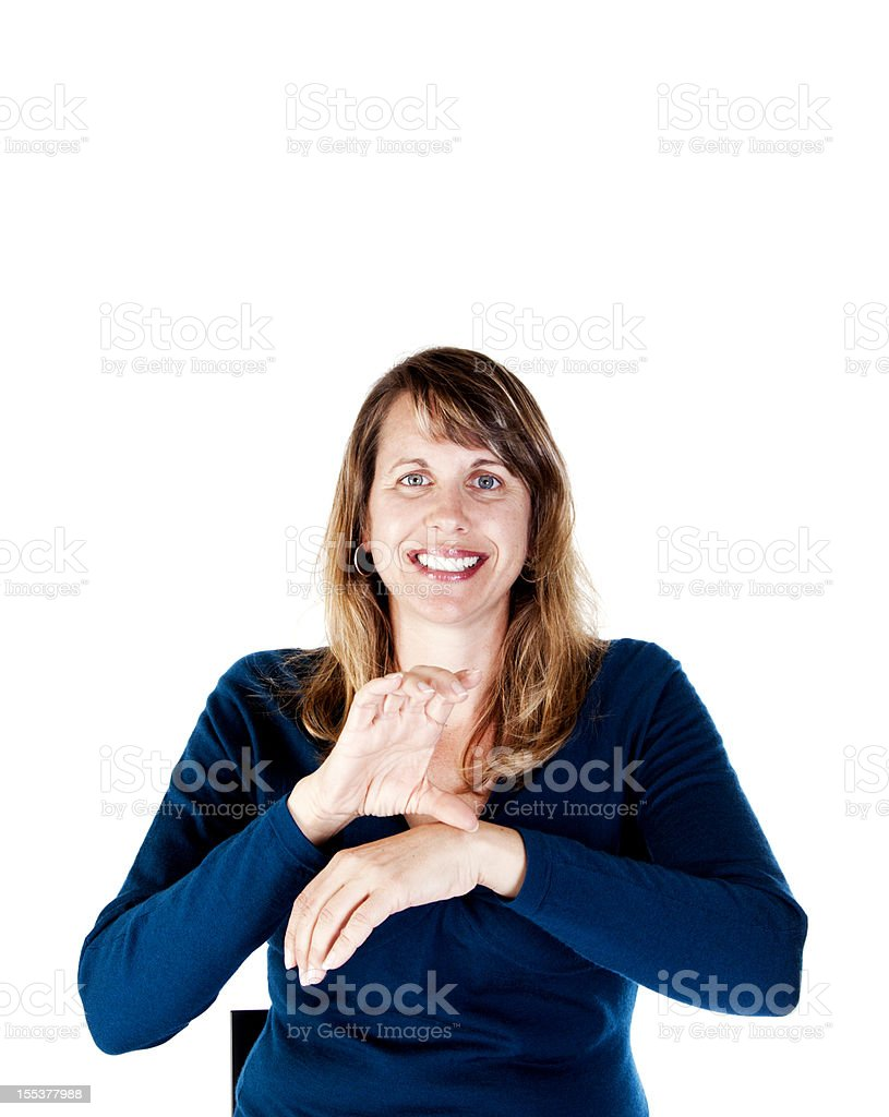 American Sign Language for CHURCH royalty-free stock photo