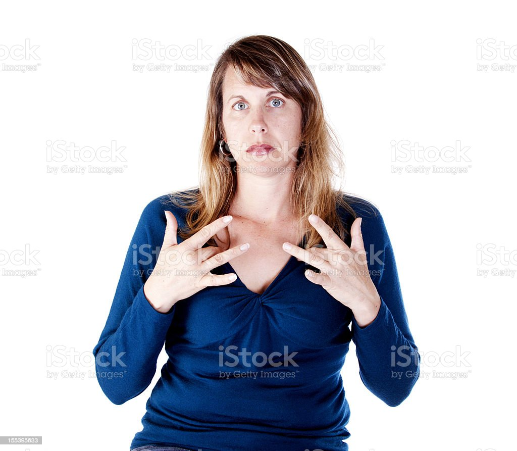 American Sign Language for DEPRESSED royalty-free stock photo