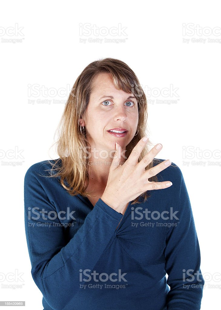American Sign Language for MOM royalty-free stock photo