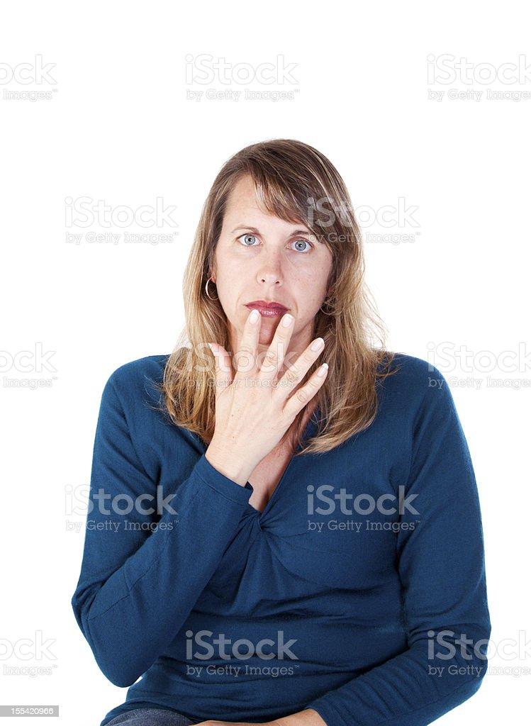 American Sign Language for SAD royalty-free stock photo
