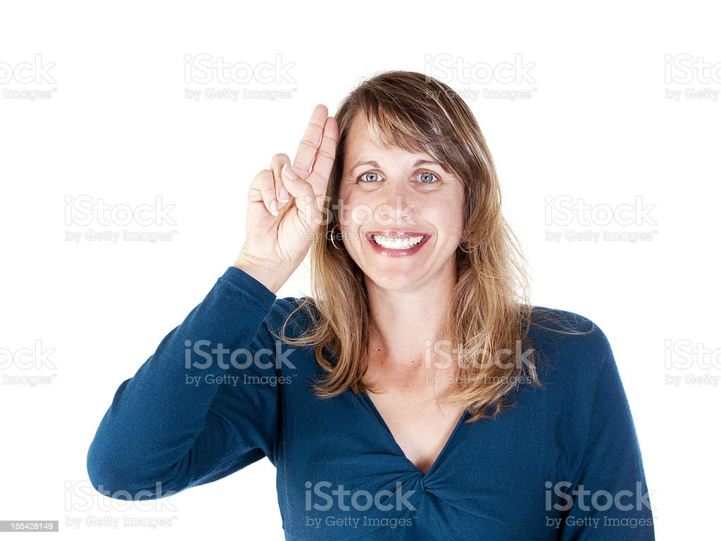 American Sign Language for UNCLE stock photo