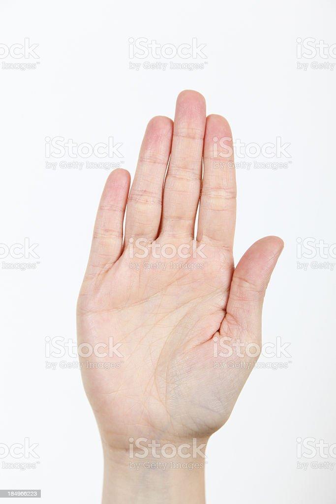 American Sign Language royalty-free stock photo