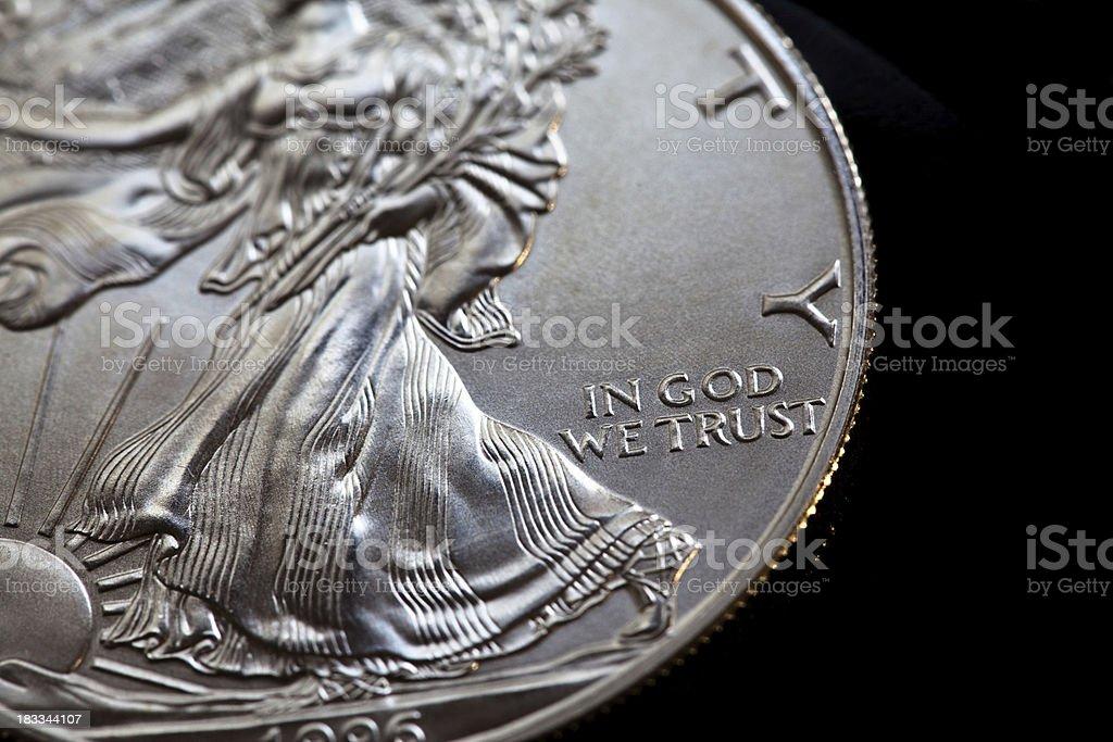 American Silver Eagle stock photo