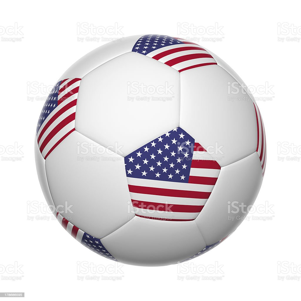 American soccer ball stock photo