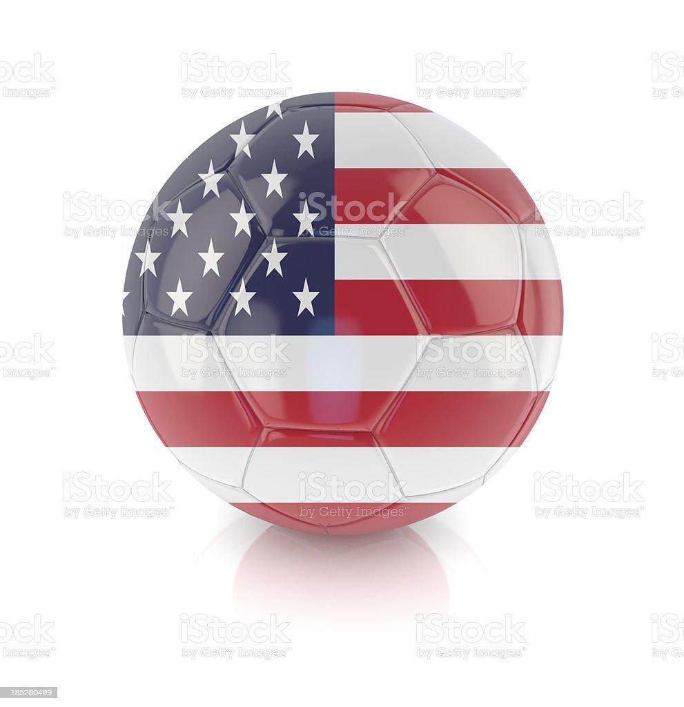 American Soccer Ball royalty-free stock photo