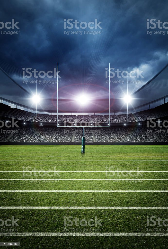 American soccer stadium, 3d rendering stock photo