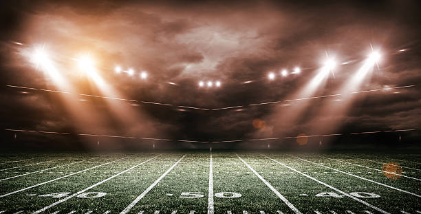 American Soccer Stadium, 3d rendering - foto de acervo