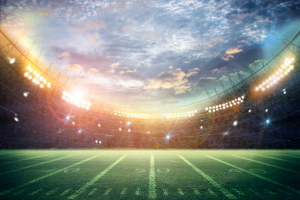 American Soccer Stadium 3d rendering stock photo