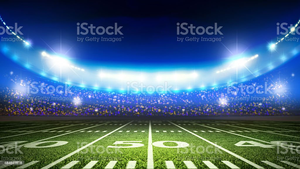 American soccer stadium stock photo