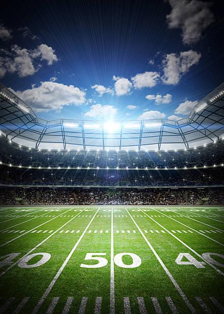 Estadio de fútbol americano - foto de stock