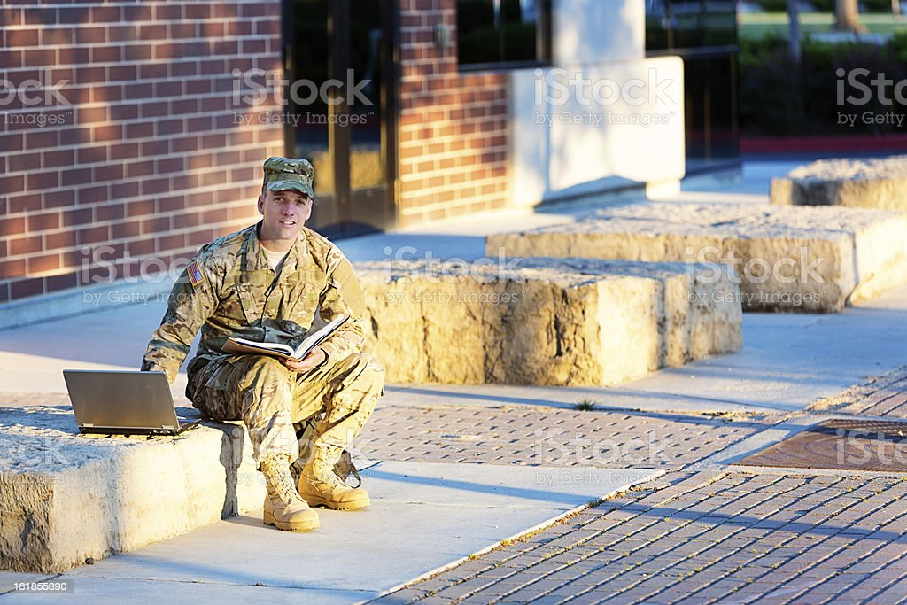 American Soldier at camous royalty-free stock photo