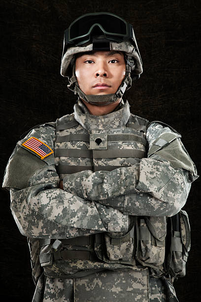 American Soldier stock photo