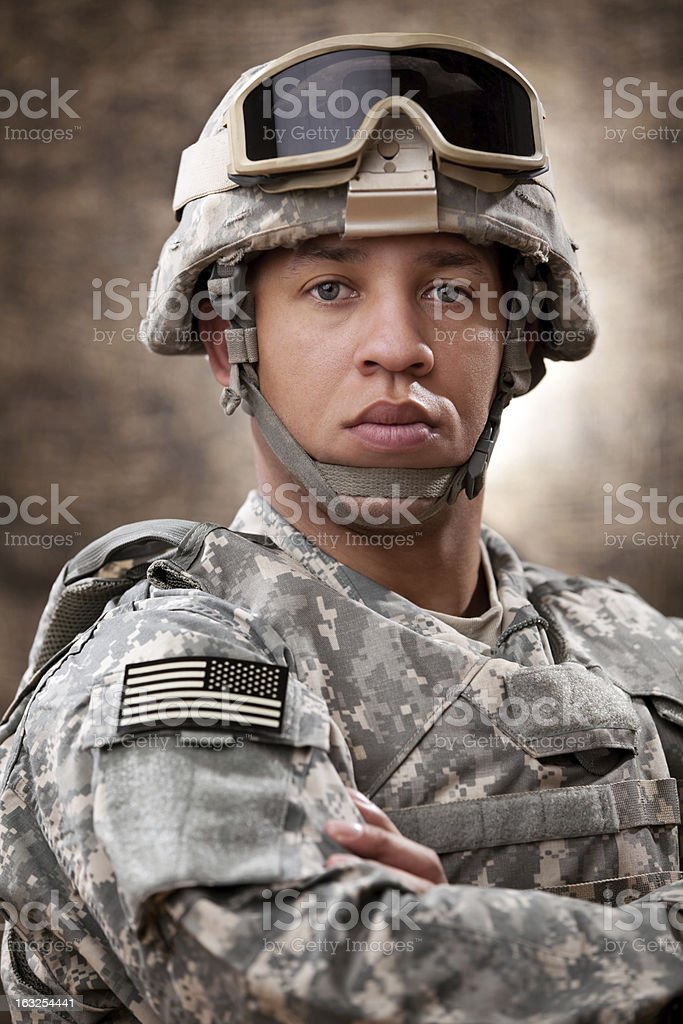 American Soldier Portrait royalty-free stock photo