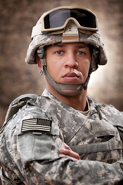 American Soldier Portrait stock photo