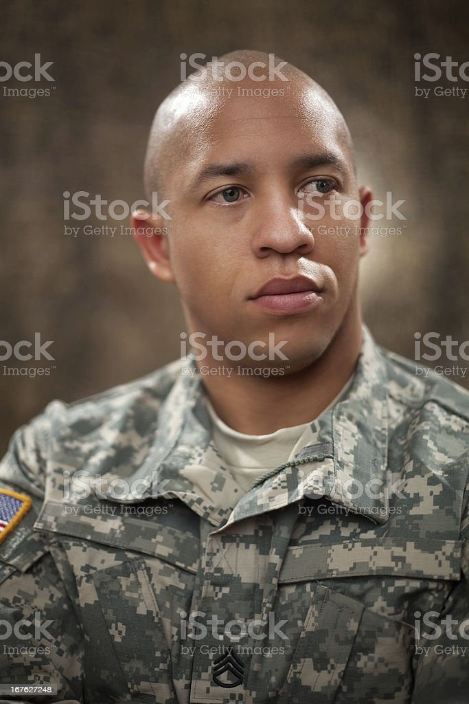 American Soldier Portrait stock photo