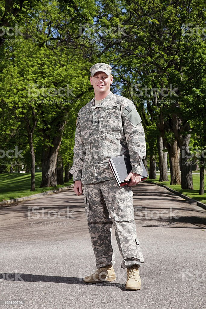 American Soldier Series: Young Sergeant royalty-free stock photo