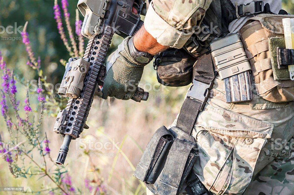 Amerikanische Soldaten uniform auf den Büschen – Foto