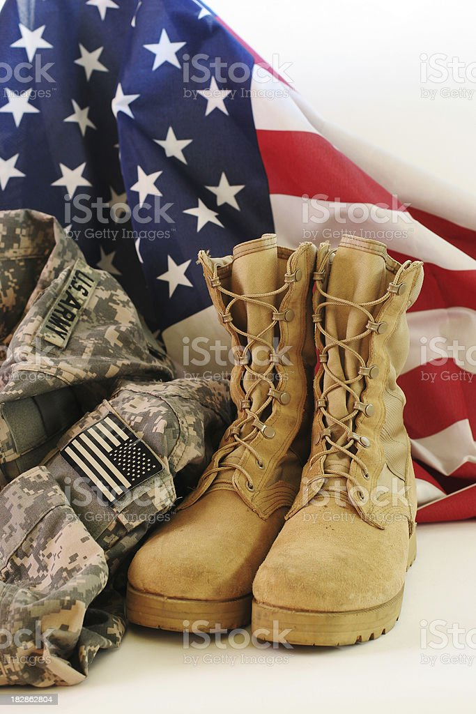 American soldier uniform stock photo
