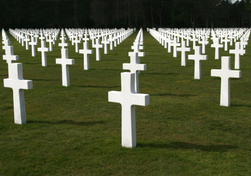 American Soldiers Cemetery near Normandy, France.