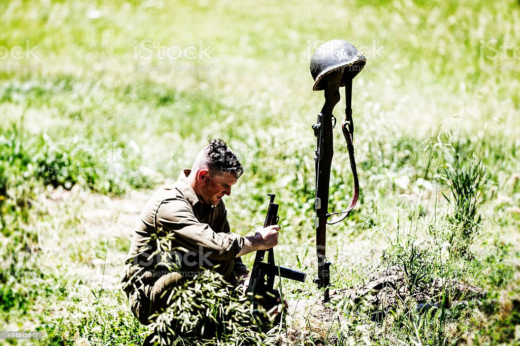 American Solider and Death stock photo