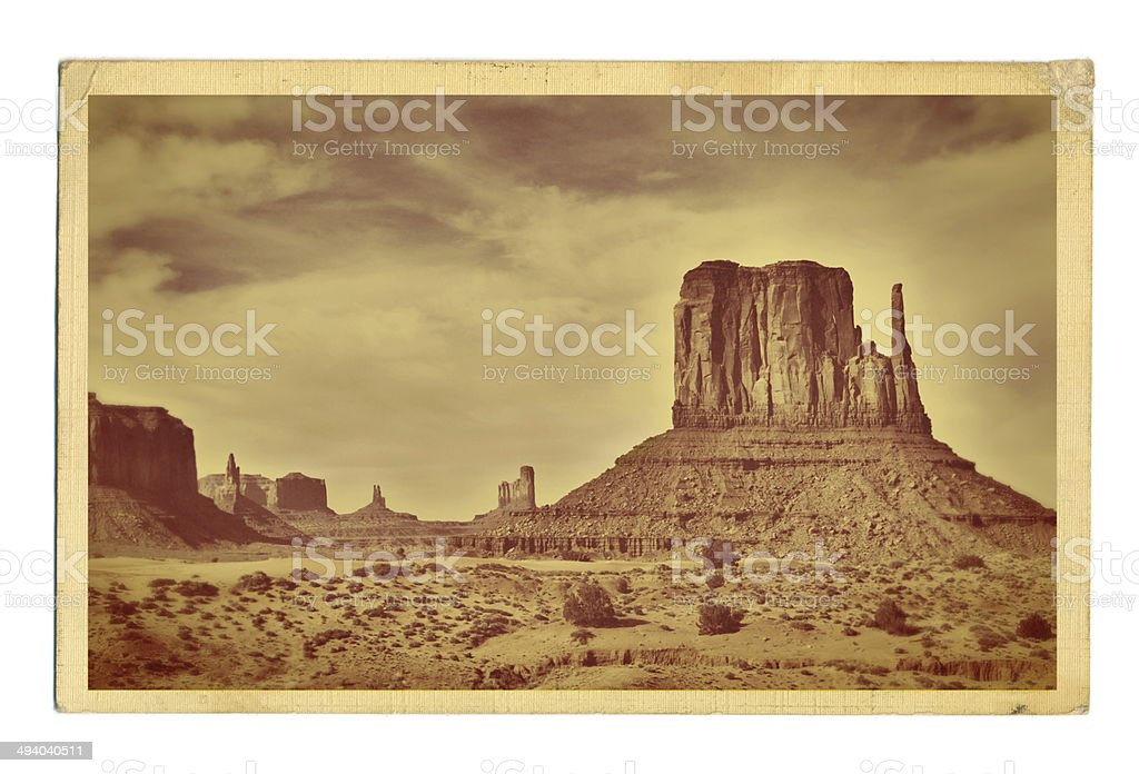 American Southwest Landscape Retro Postcard royalty-free stock photo