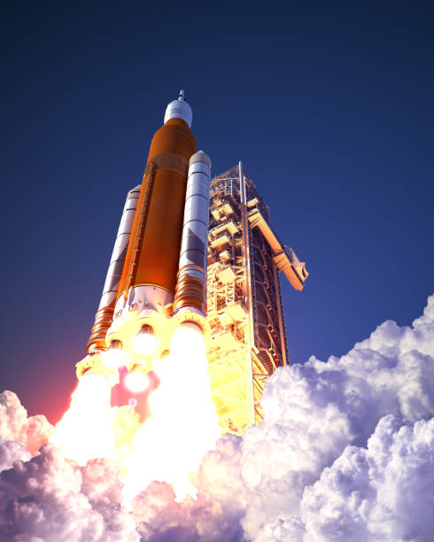 American Space Launch System Takes Off stock photo
