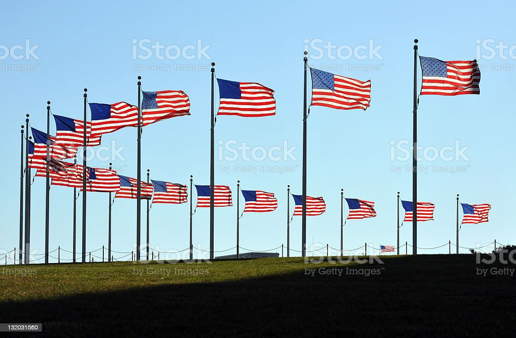 American Spangled Banners royalty-free stock photo