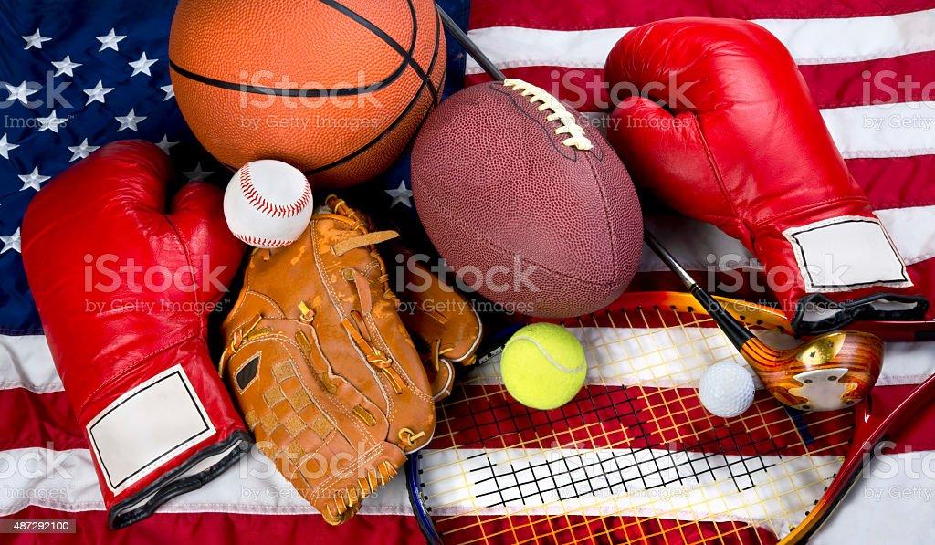 American Sports. stock photo