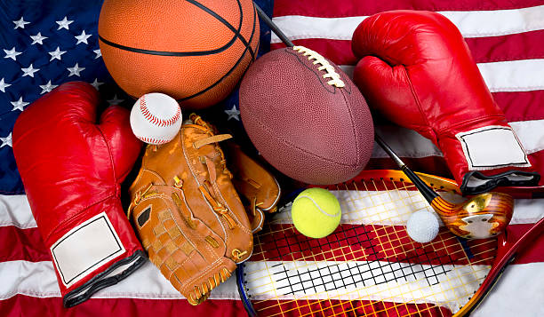 american sports. - high school sports stock photos and pictures