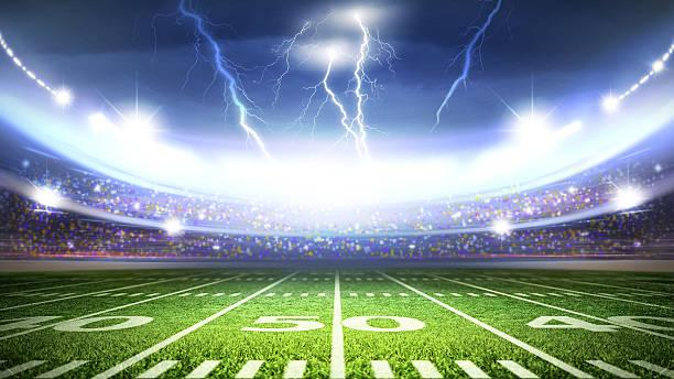 американский стадион - lightning стоковые фото и изображения