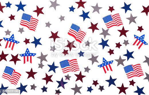 istock American Stars and Flags 537523130