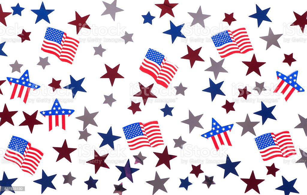 American Stars and Flags stock photo