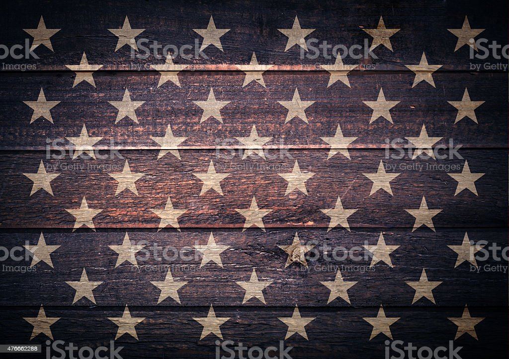 american stars on flag stock photo