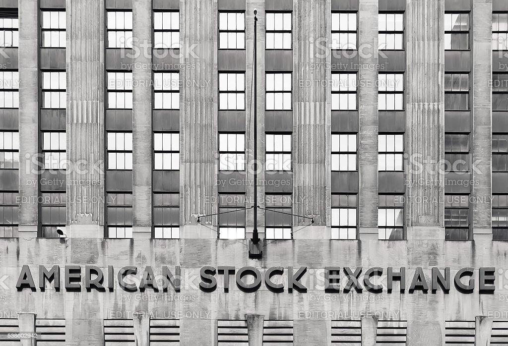Bolsa de valores Americana de AMEX - foto de stock