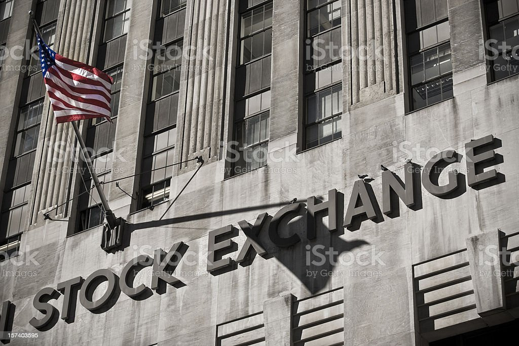American Stock Exchange royalty-free stock photo