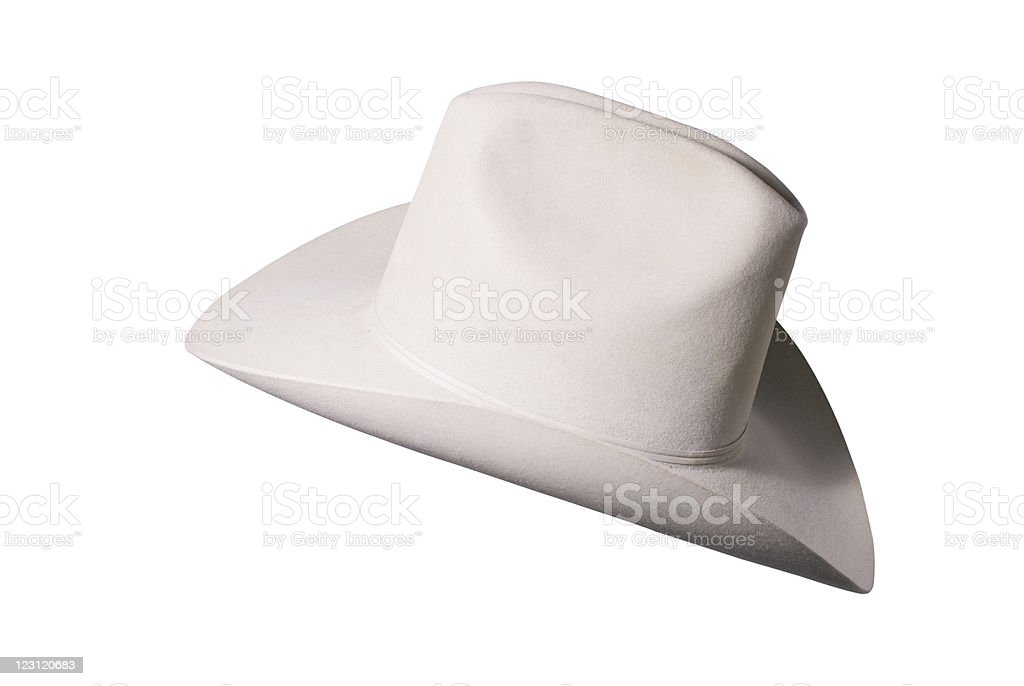 American style cowboy hat stock photo