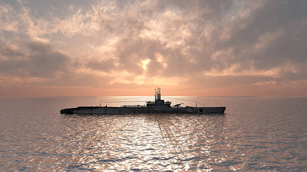 american u-boot des zweiten weltkriegs - u boote stock-fotos und bilder