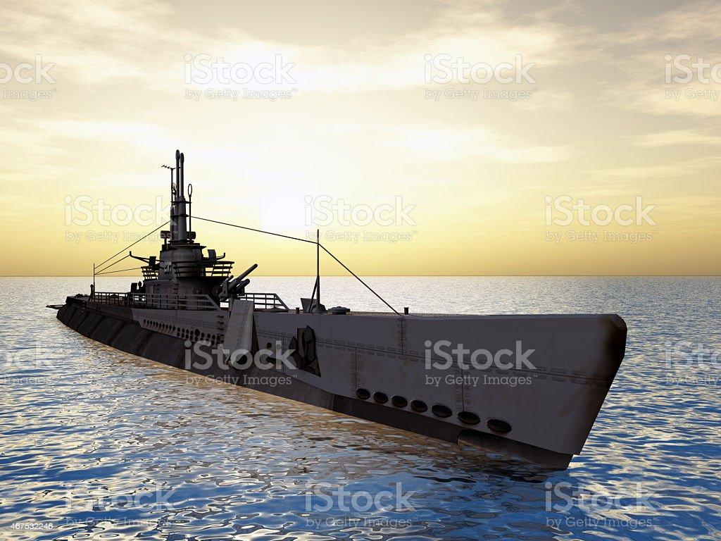 American Submarine stock photo