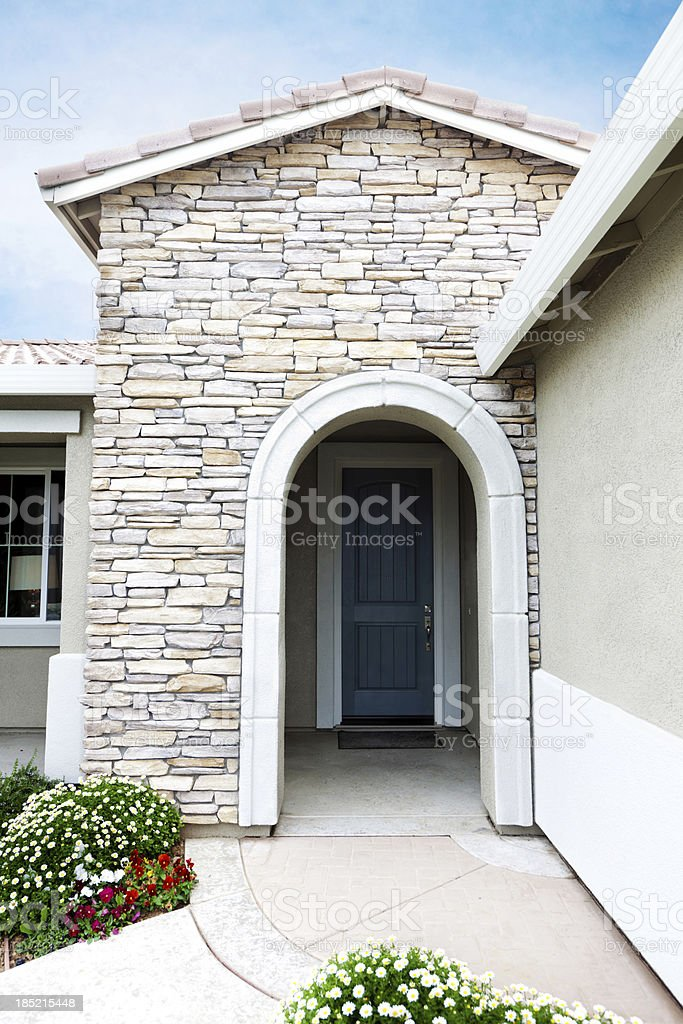 American Suburb House Main  Entrance royalty-free stock photo