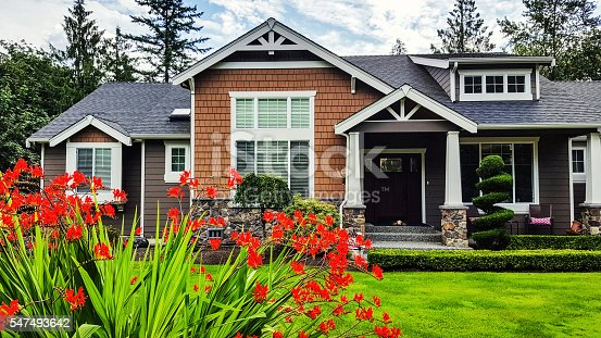 Photo of a modern style American suburban home.
