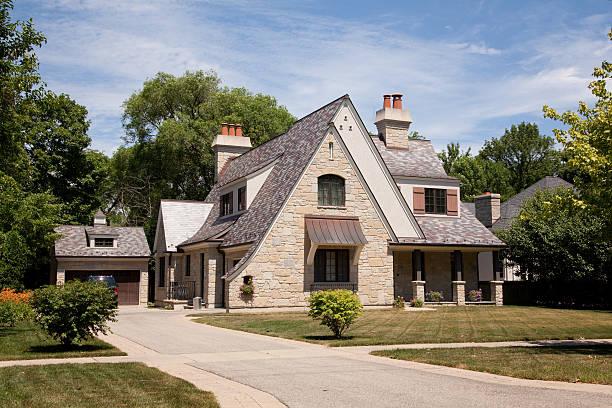 american casa suburbana - chicago illinois fotografías e imágenes de stock